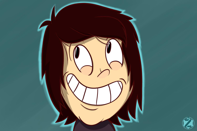 Cartoon Happy Face ZOMG