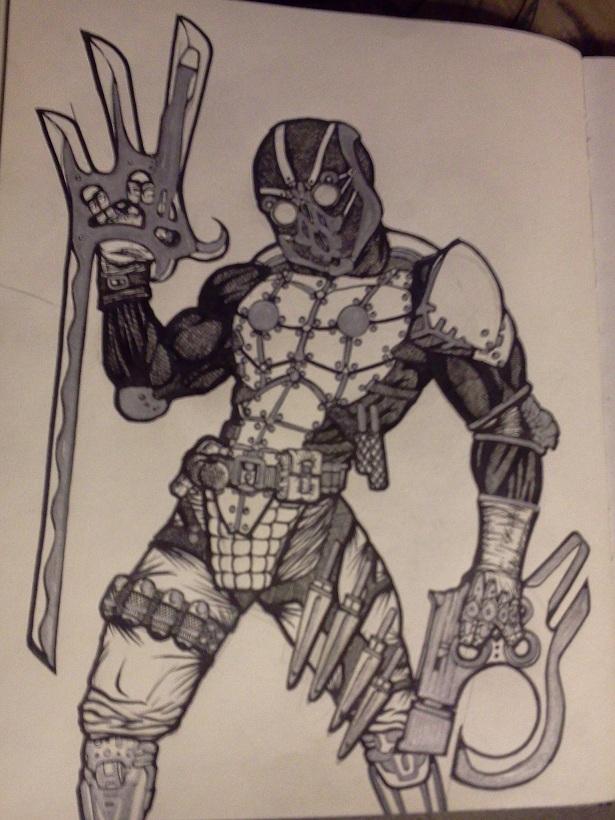 deadpool type character-
