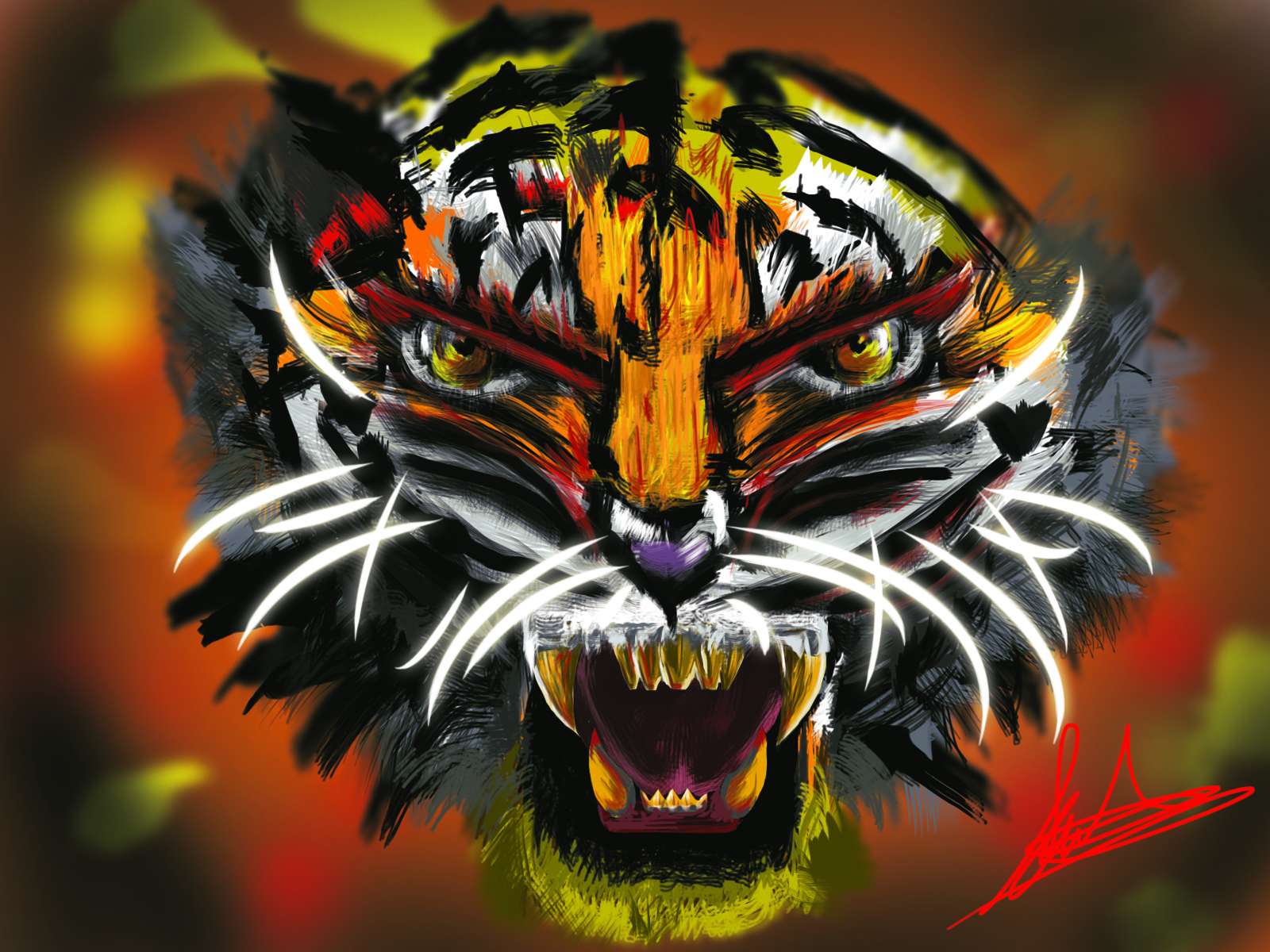 Inky tiger....