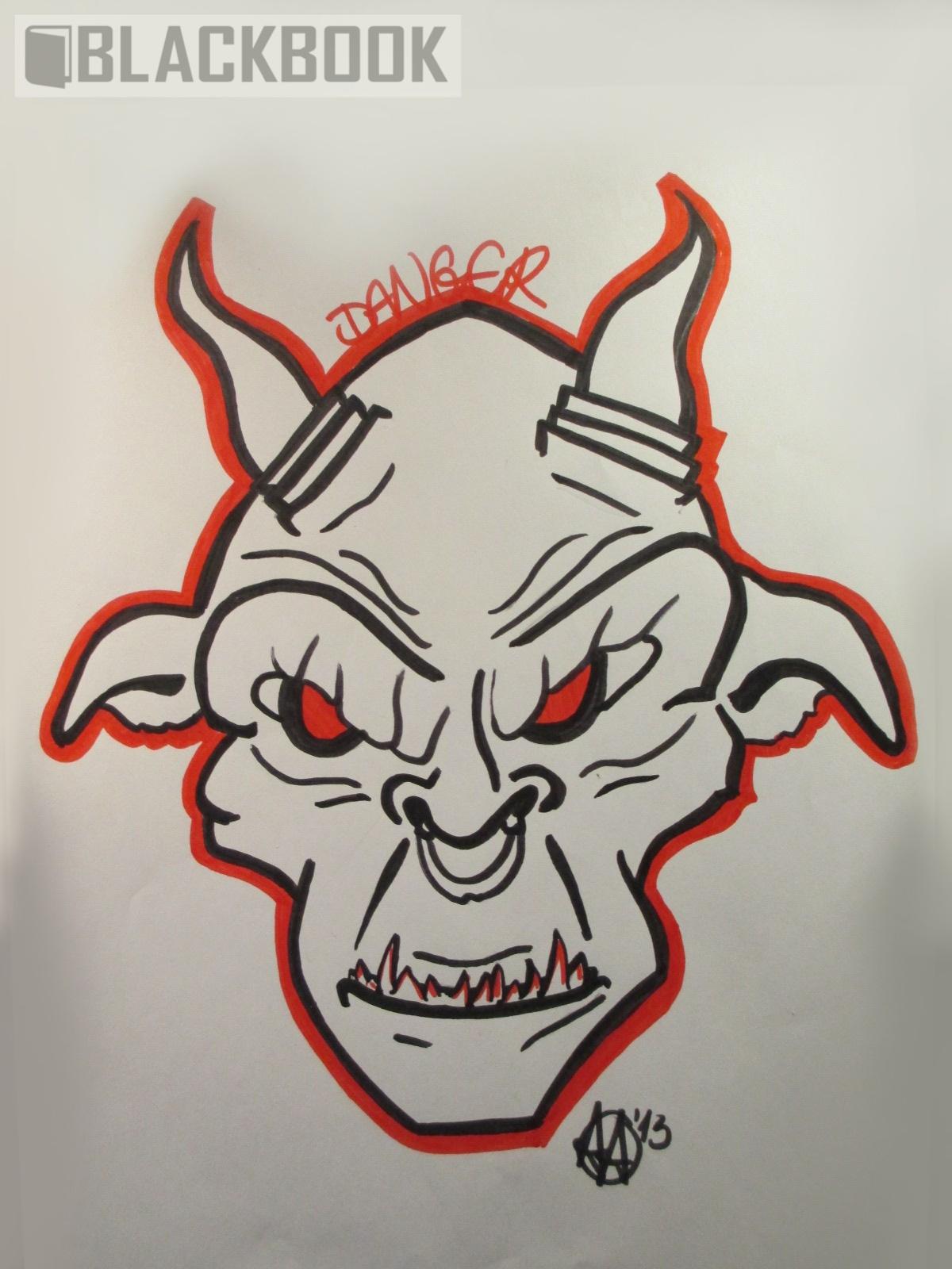 Graffiti Piece   Evil Devil