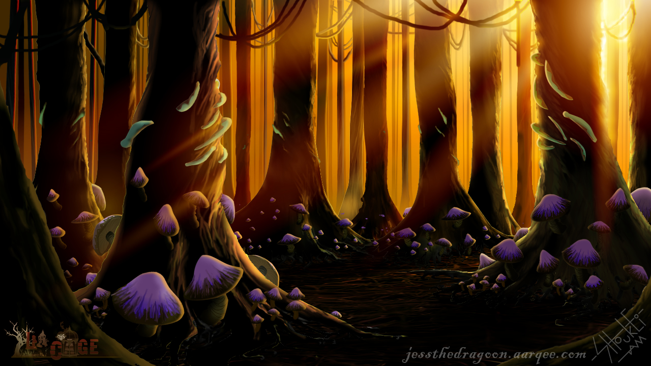 Enchanted Woods at Sunset