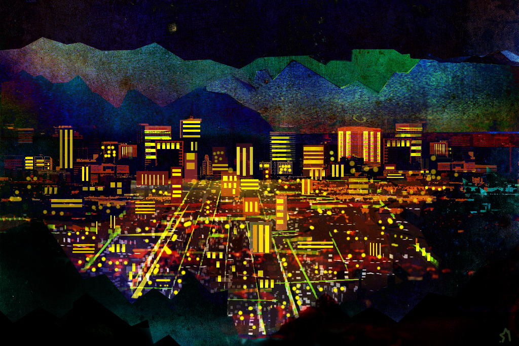 Phoenix, by night