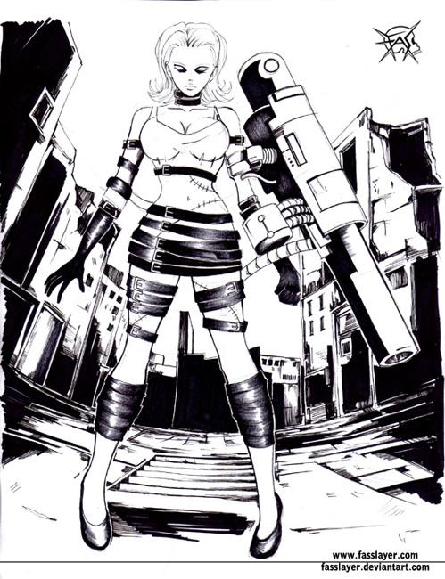 zombie bazooca girl