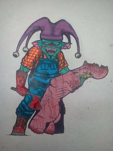 7x7 evil clown