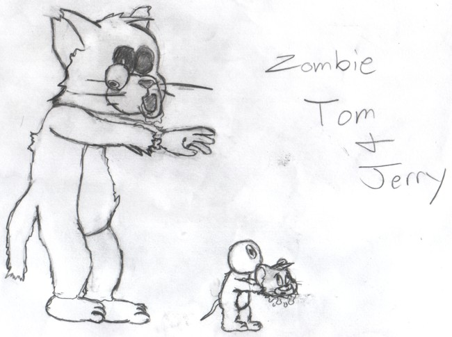 Zombie Tom and Jerry