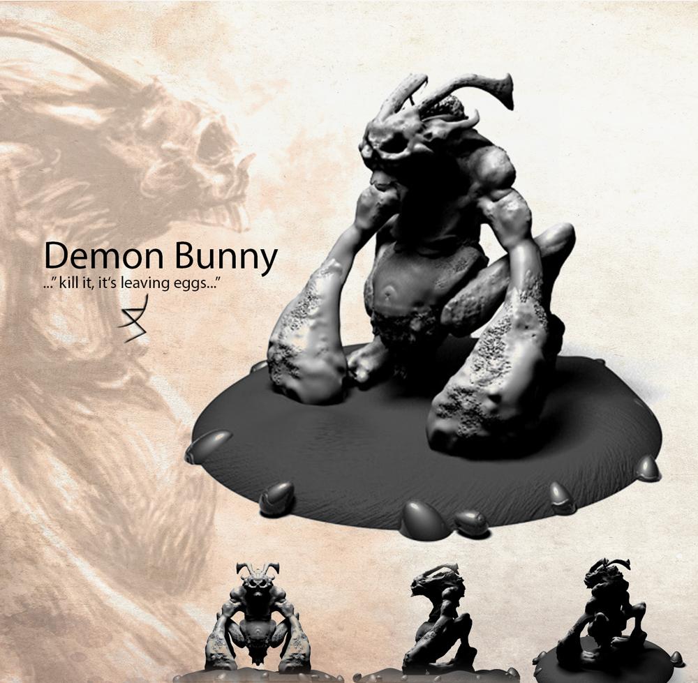 Demon Bunny 3d presentation