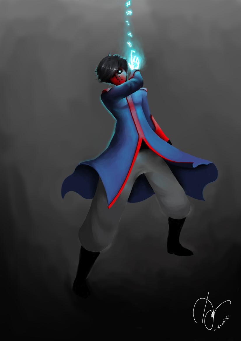 Red Mask Blue Magic