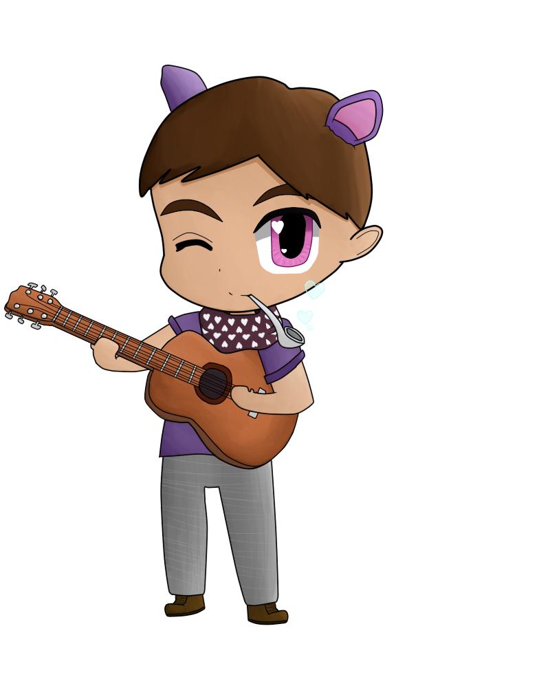 Chibi guitarist