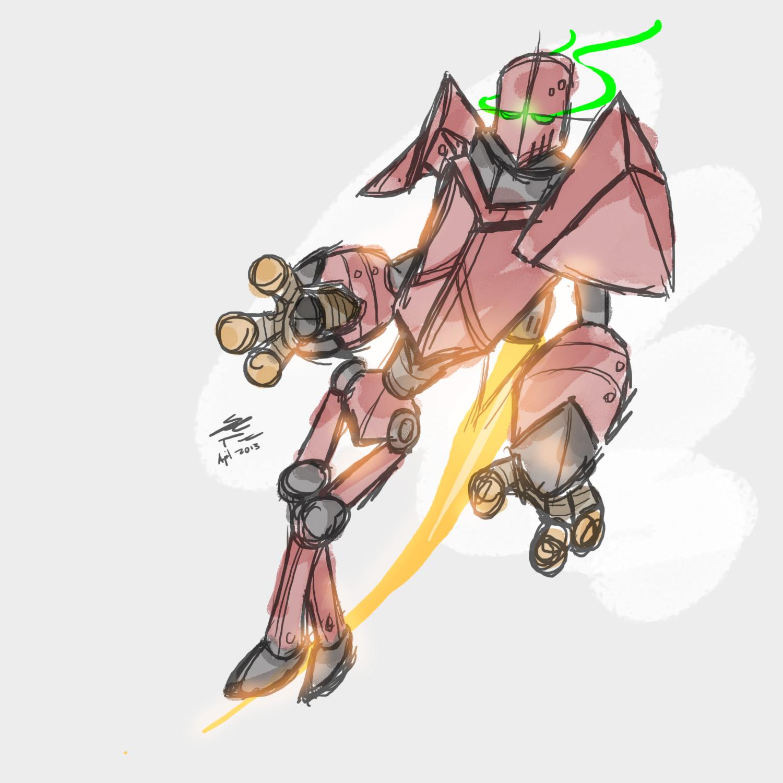 Jetpack Robot Concept