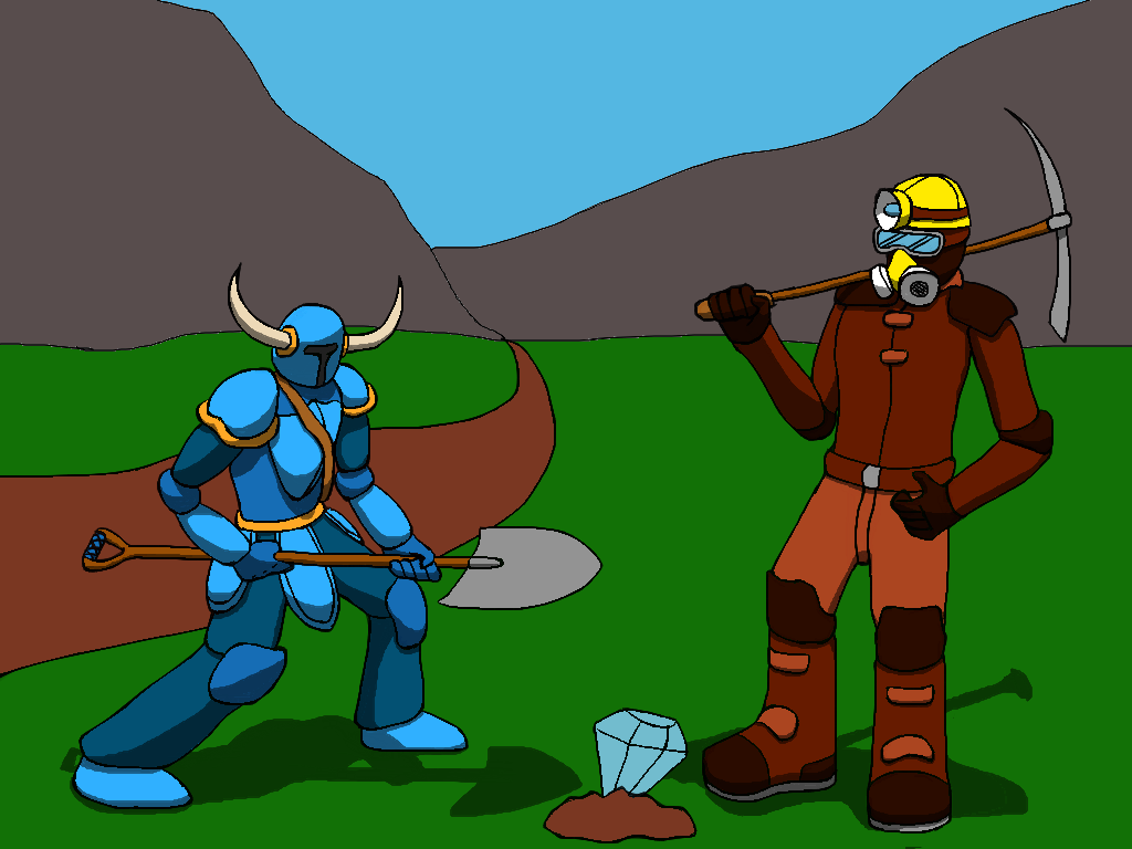 Shovelknight & Pickaxe Warrior