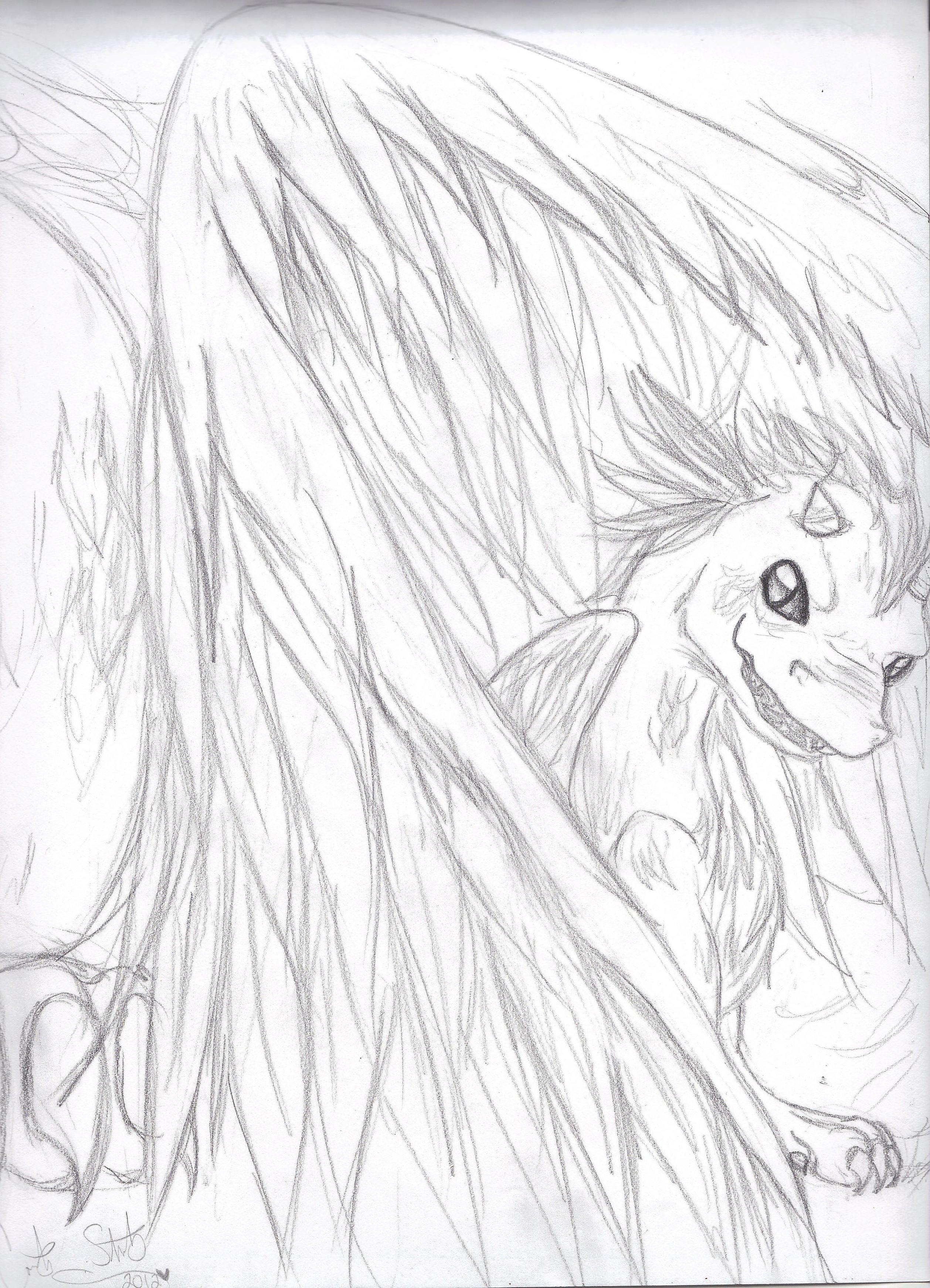 Baby Dragon Line Art