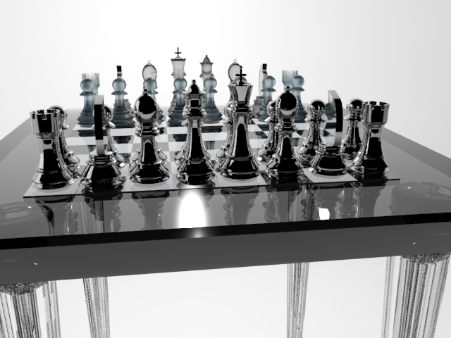 3D Chess Set 02