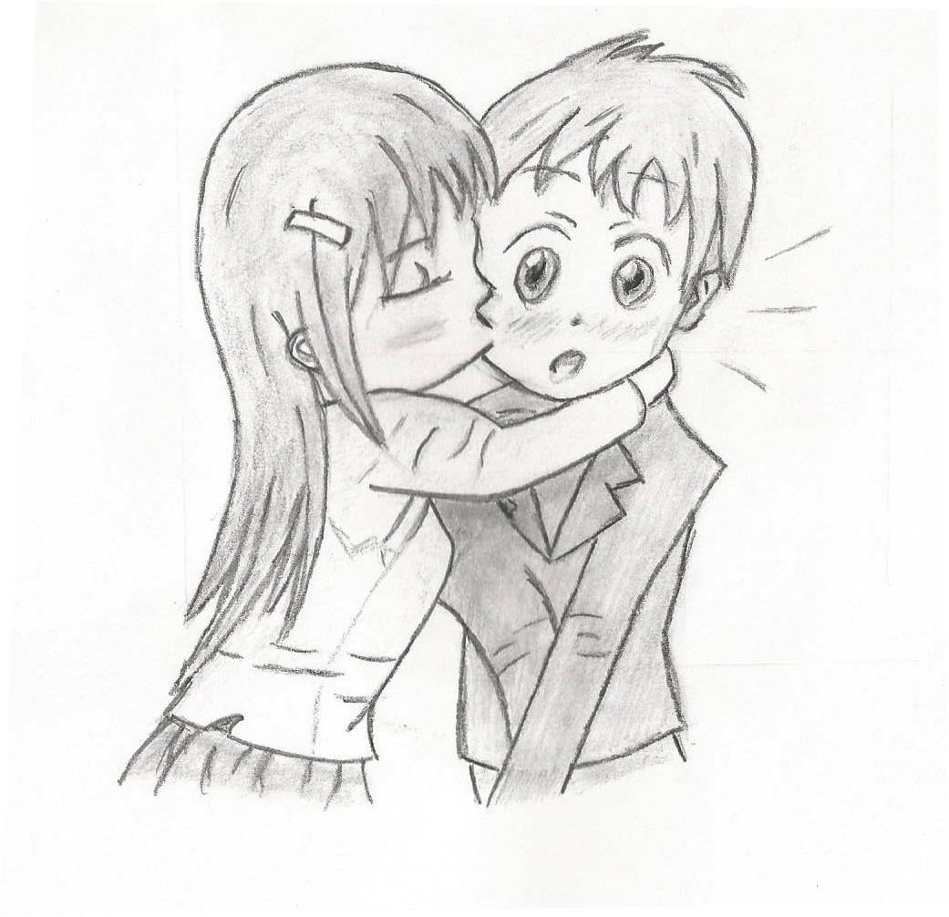 Manga kiss on the cheek