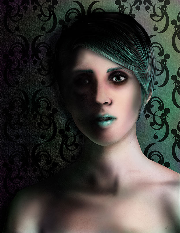 Photoshop test - Female green