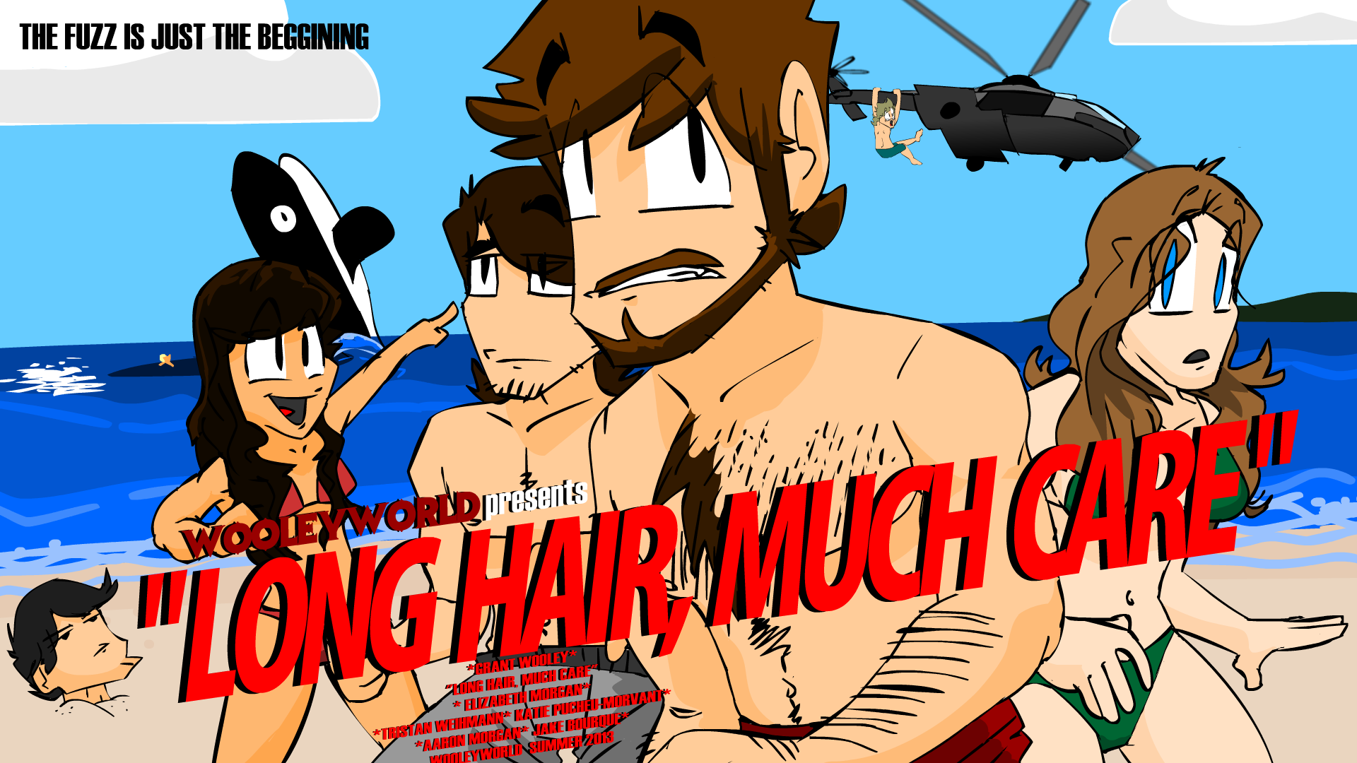 Long Hair, Much Care Poster