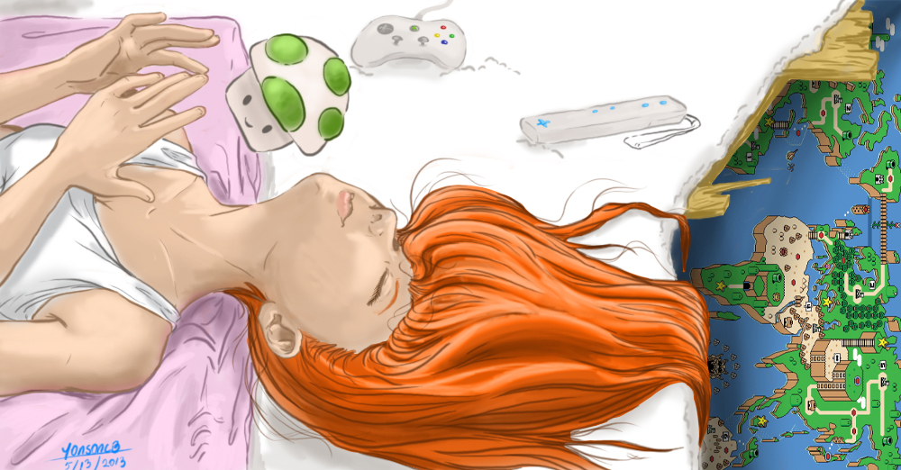 girl gamer dreaming