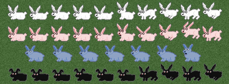 Bunny Sprites Larger