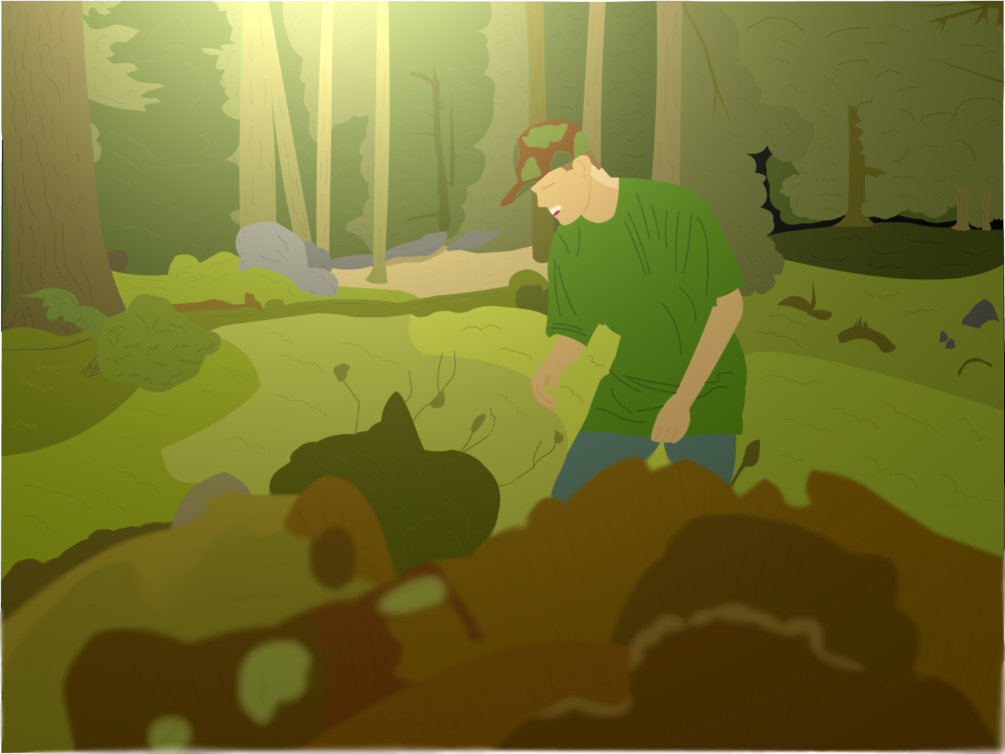 Dan in a forest