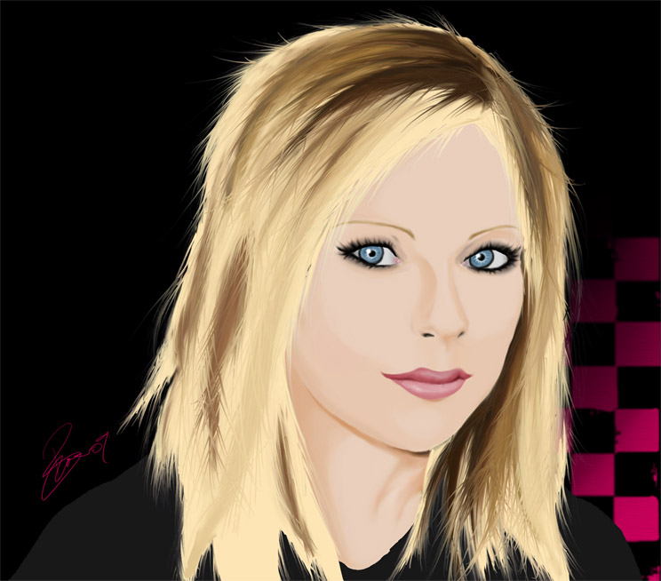 Avril Lavigne Digital Portrait