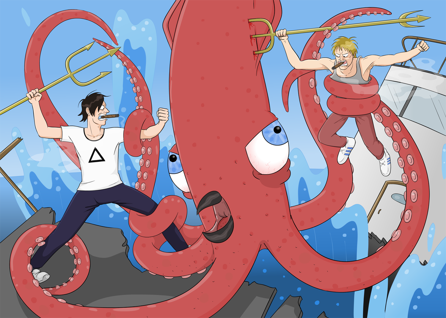 Squid Battle
