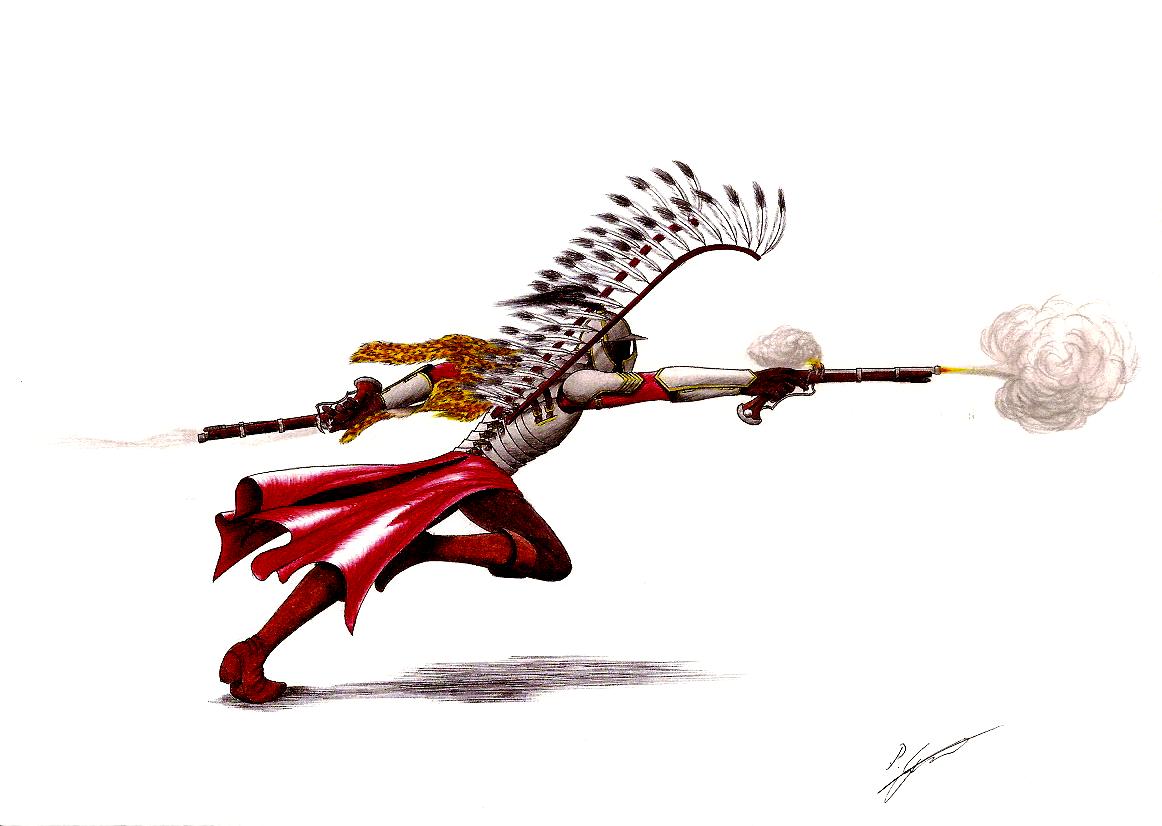 Horseless Winged Hussar Gunner