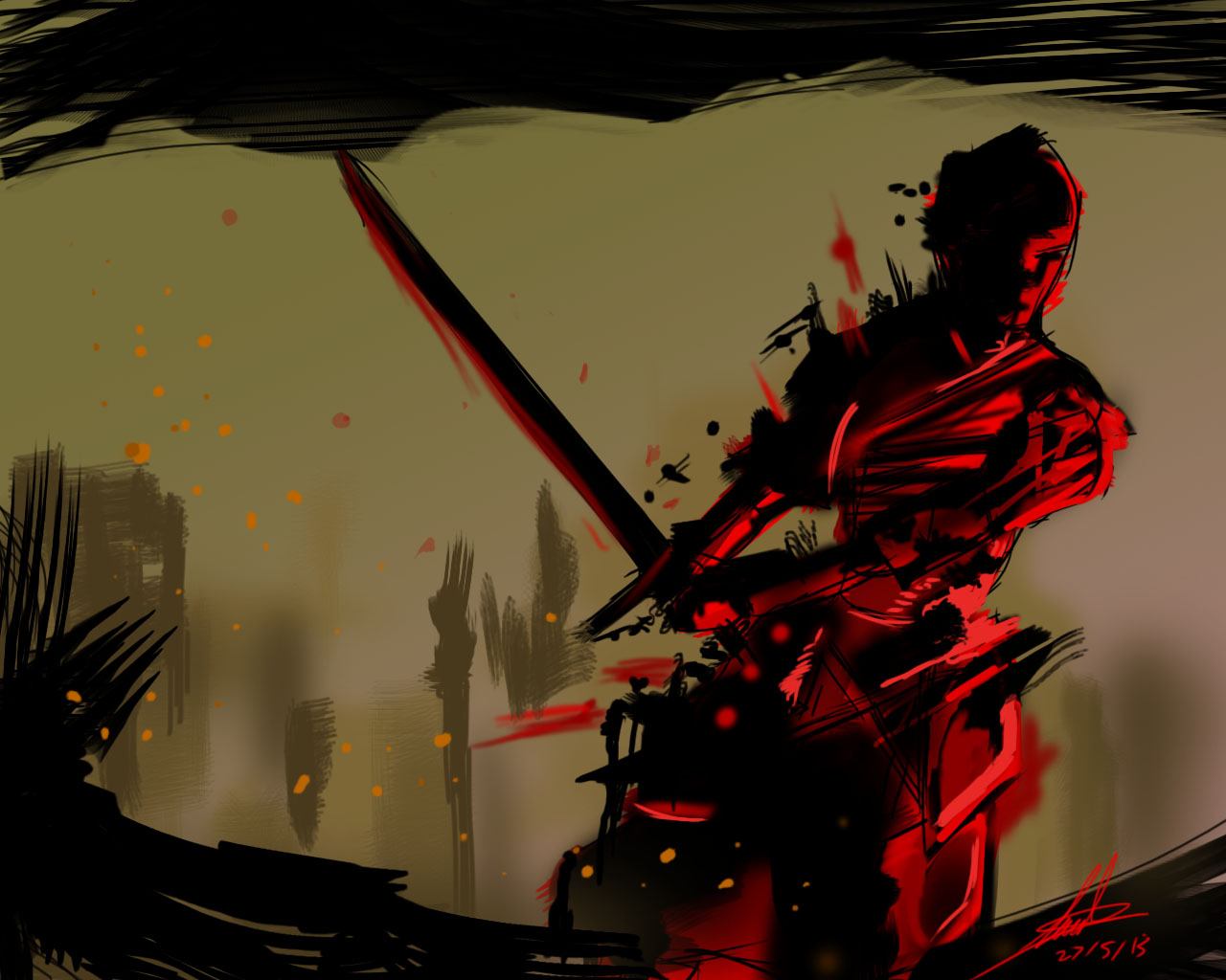 The bloody samurai