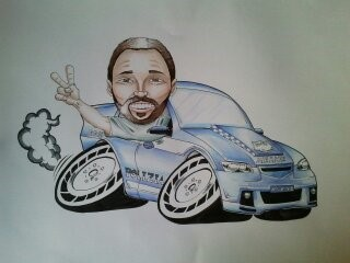 Commissioned Racer Cartoon Man