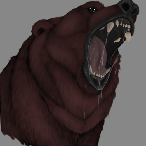 Fierce Roaring Bear