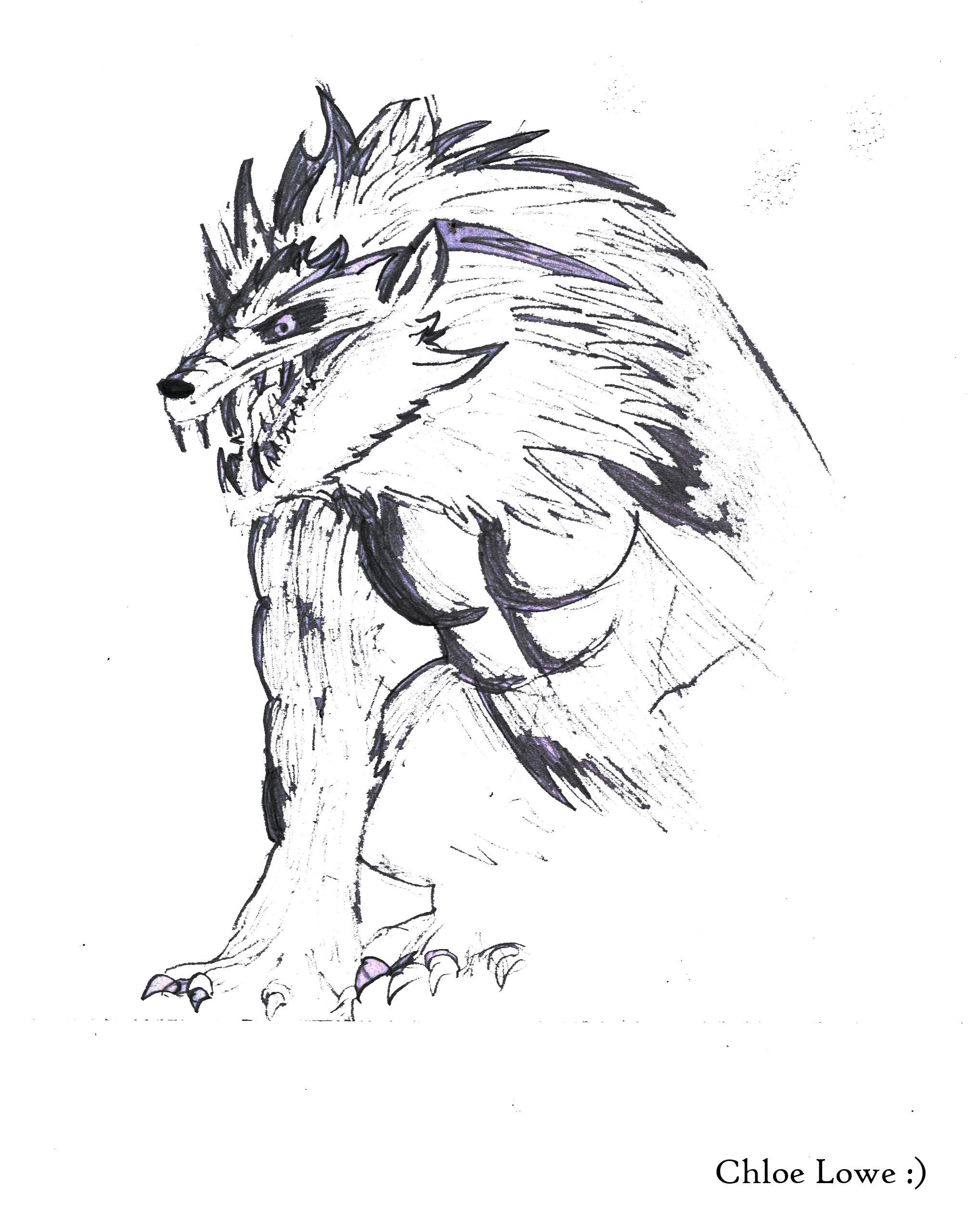 Werewolf Drawing
