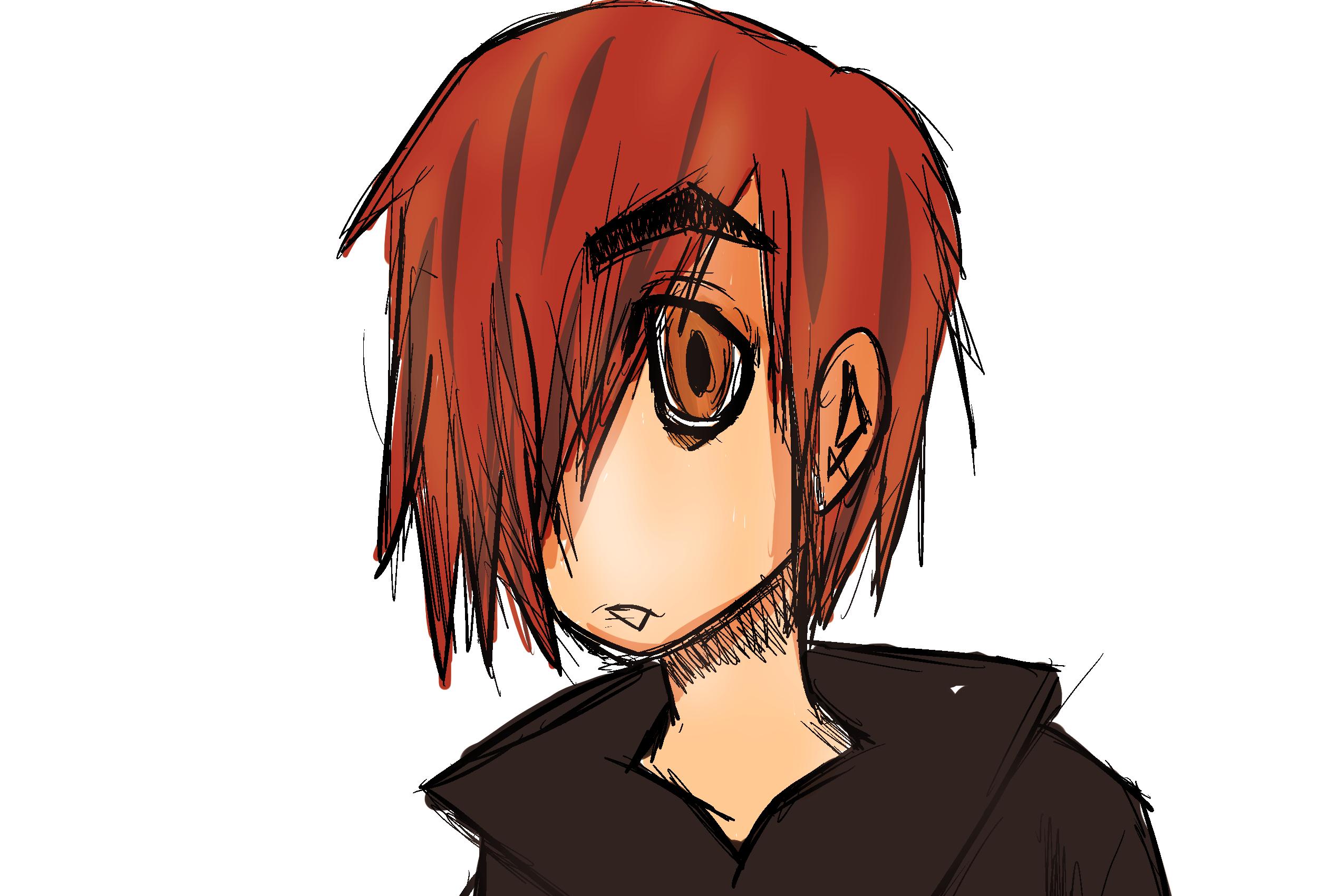 Red headed boy