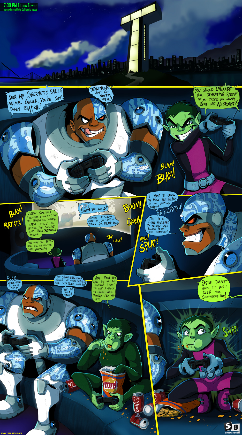T.T.G.F. Page 1: Titans Tower