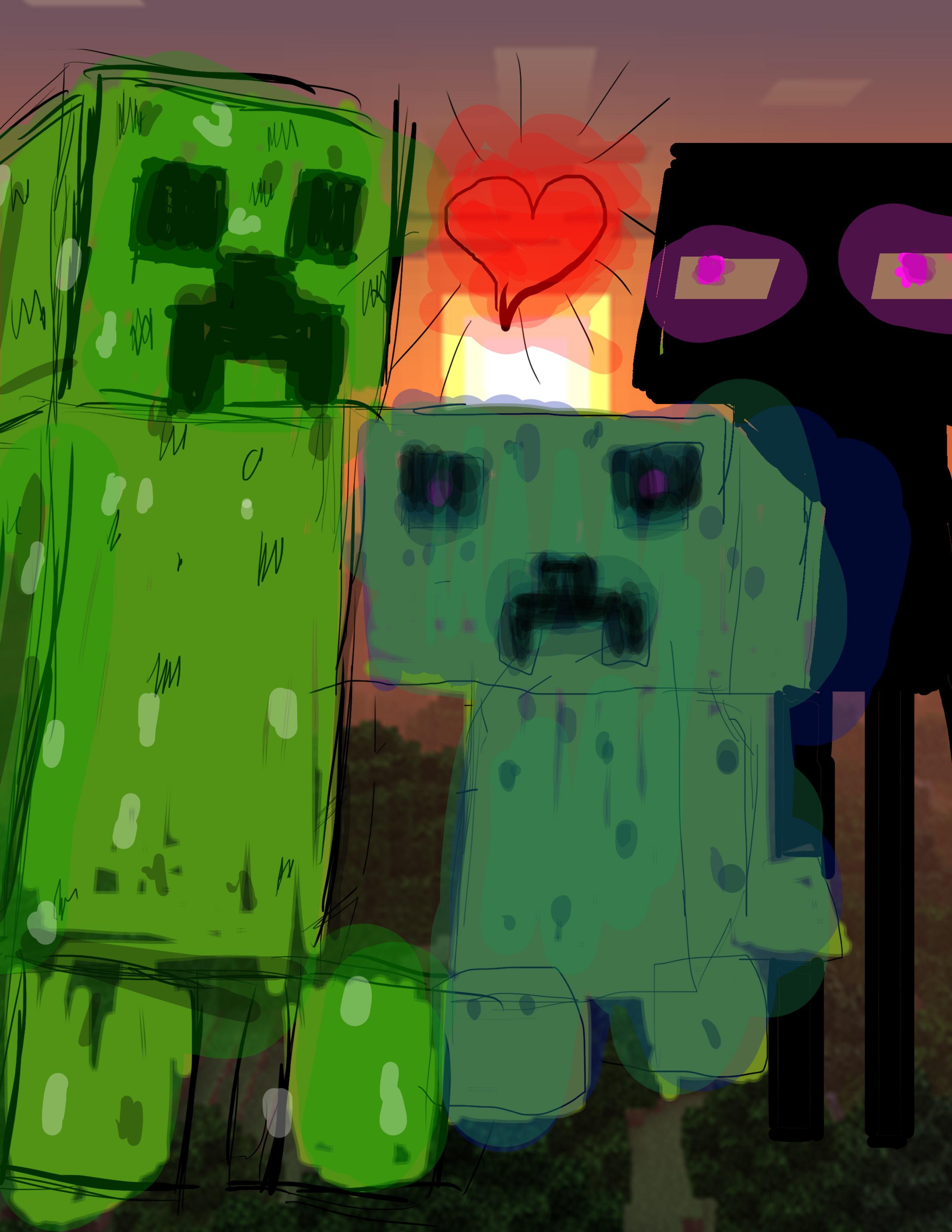 Minecraft pop art
