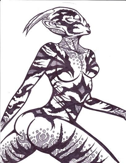 8.5x11 alien female