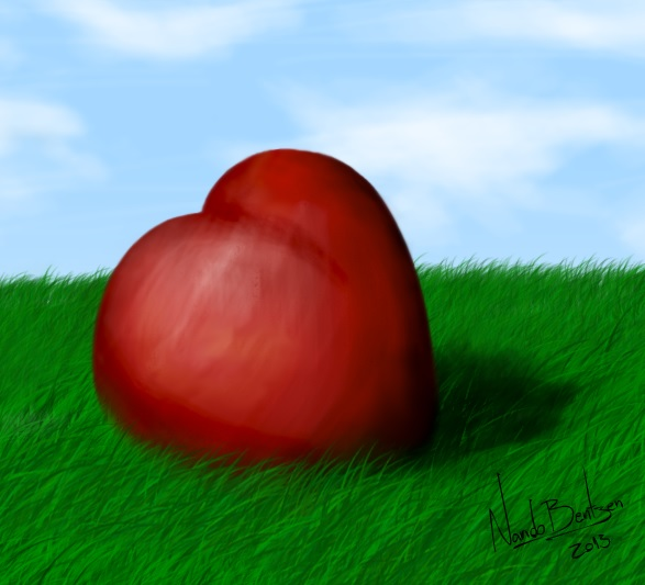 A Heart on the Grass