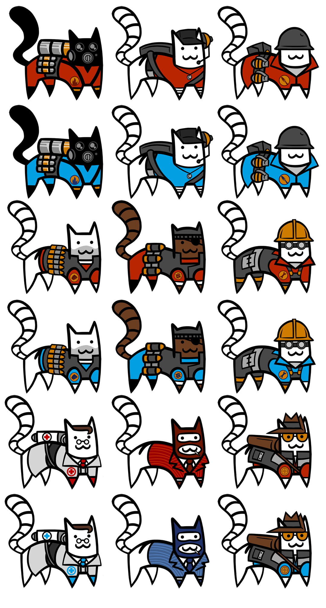 TF2 CAT STICKERS SERIES 1
