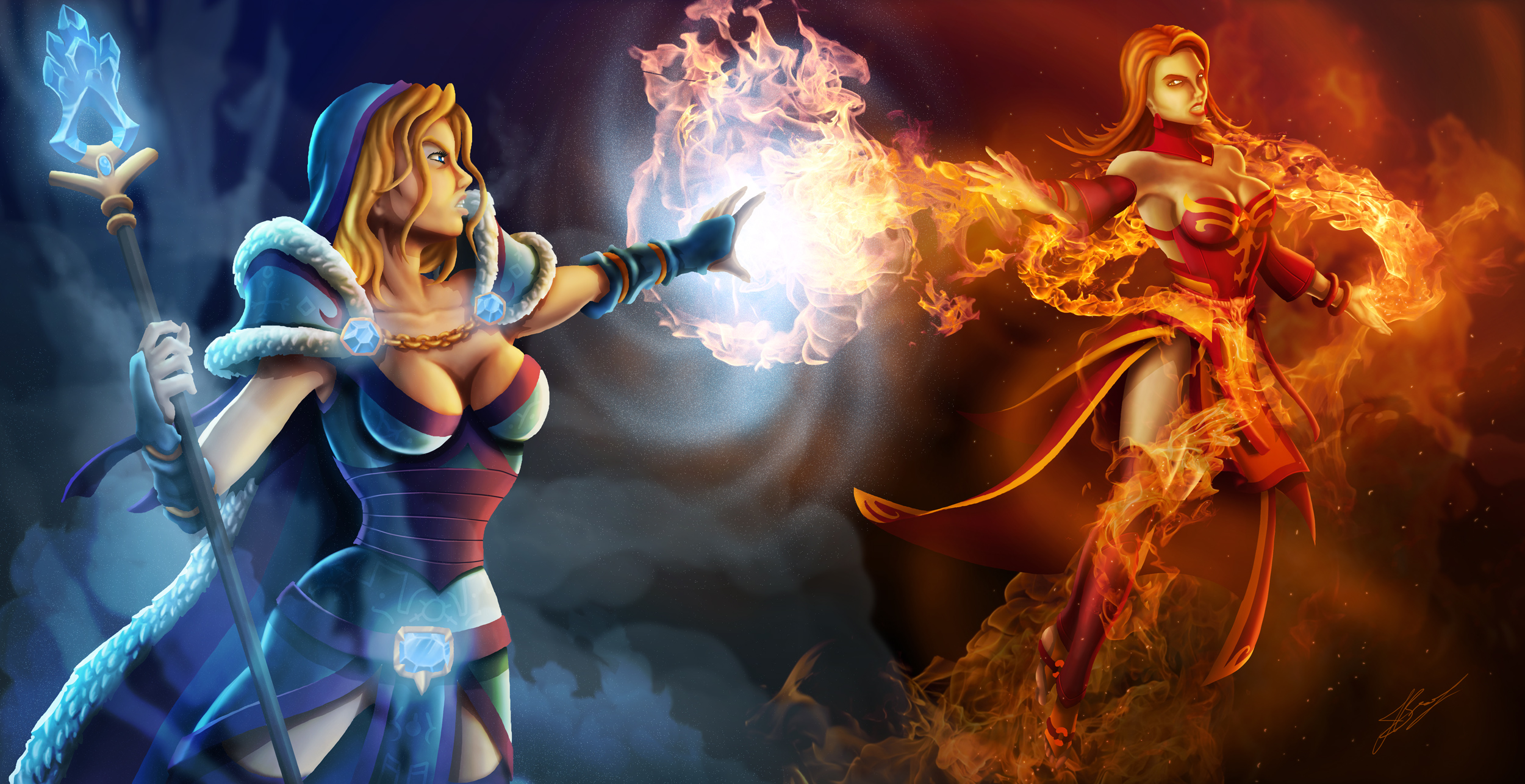Crystal Maiden Vs. Lina