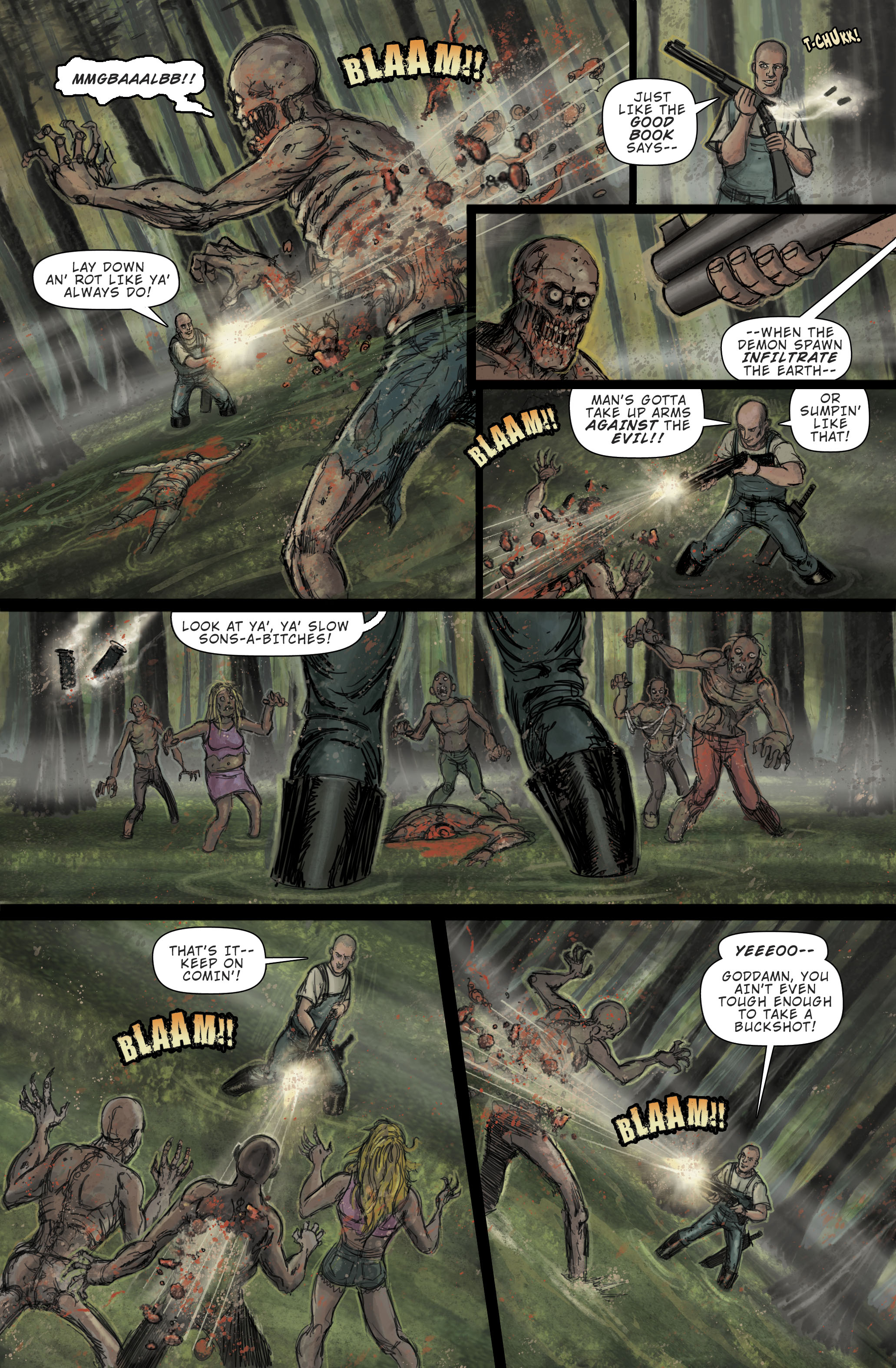 "Zombie Terrors ""Beheaded"" pg 2"