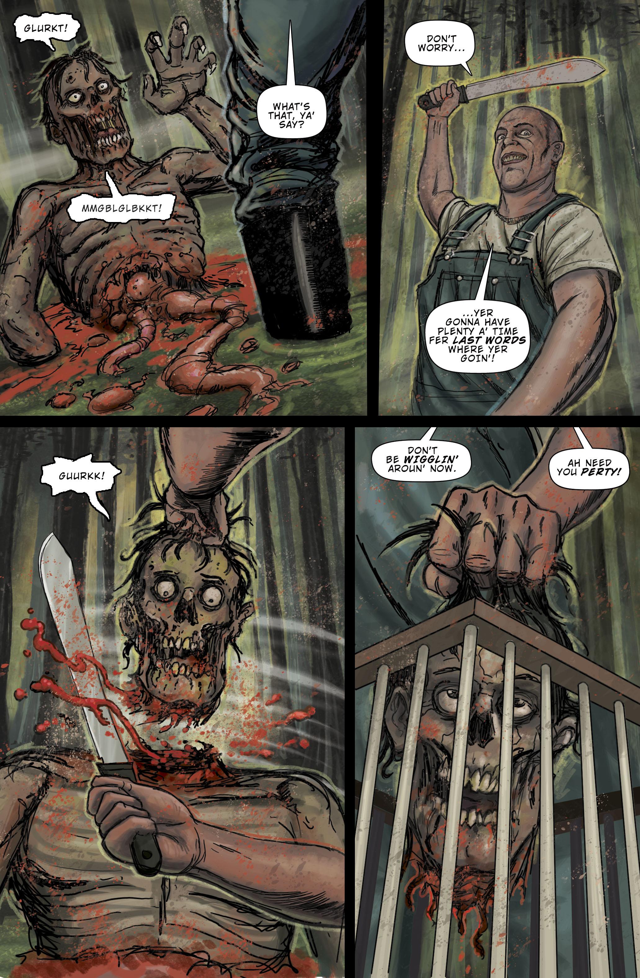 """Zombie Terrors """"Beheaded"""" pg 4"""