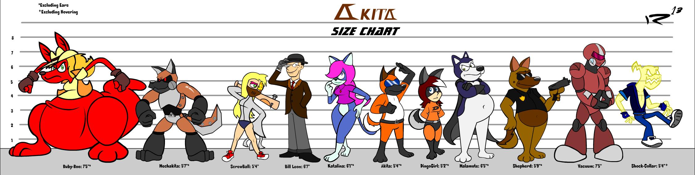 Akita Size Chart