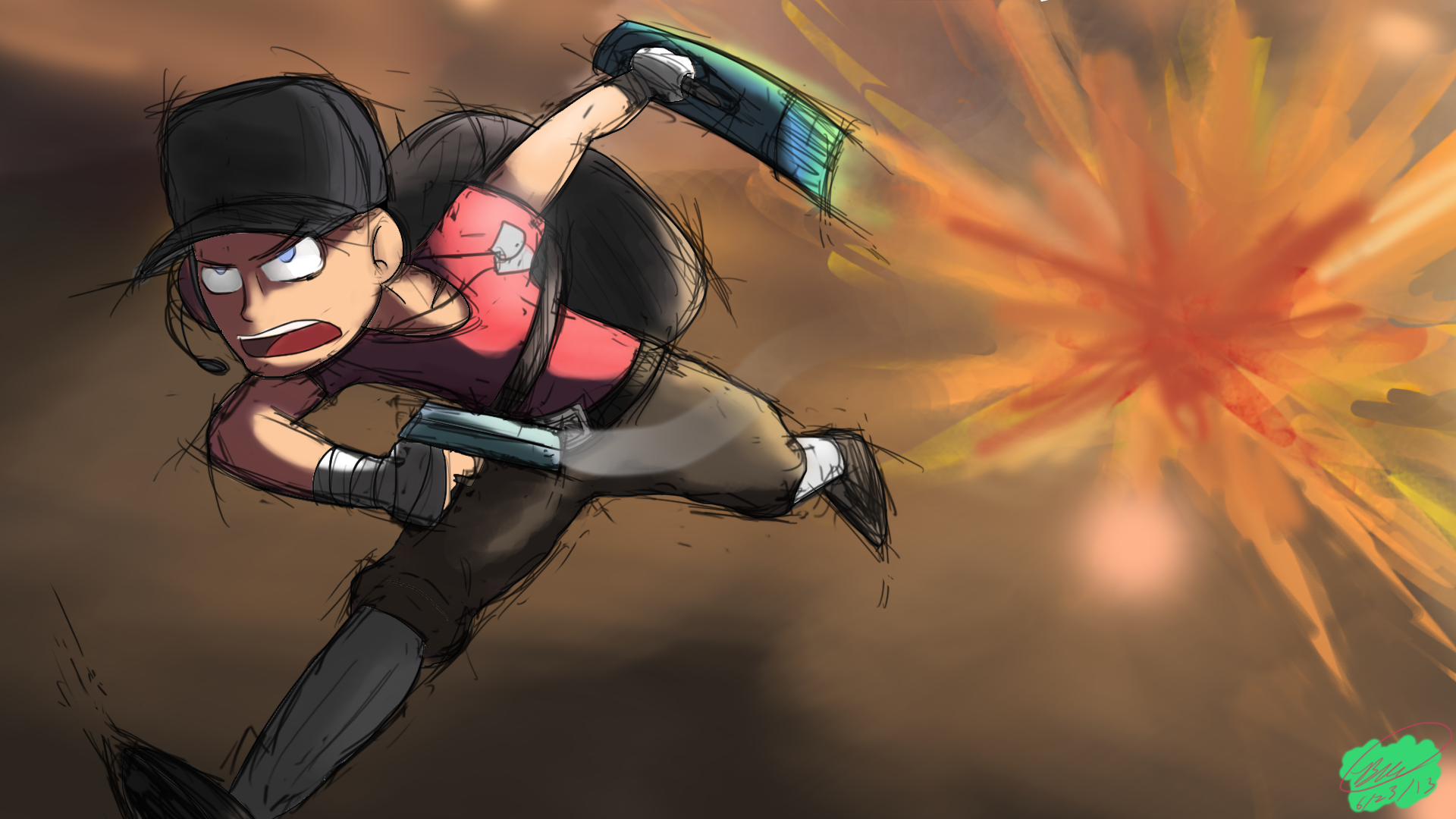TF2 Scout Running