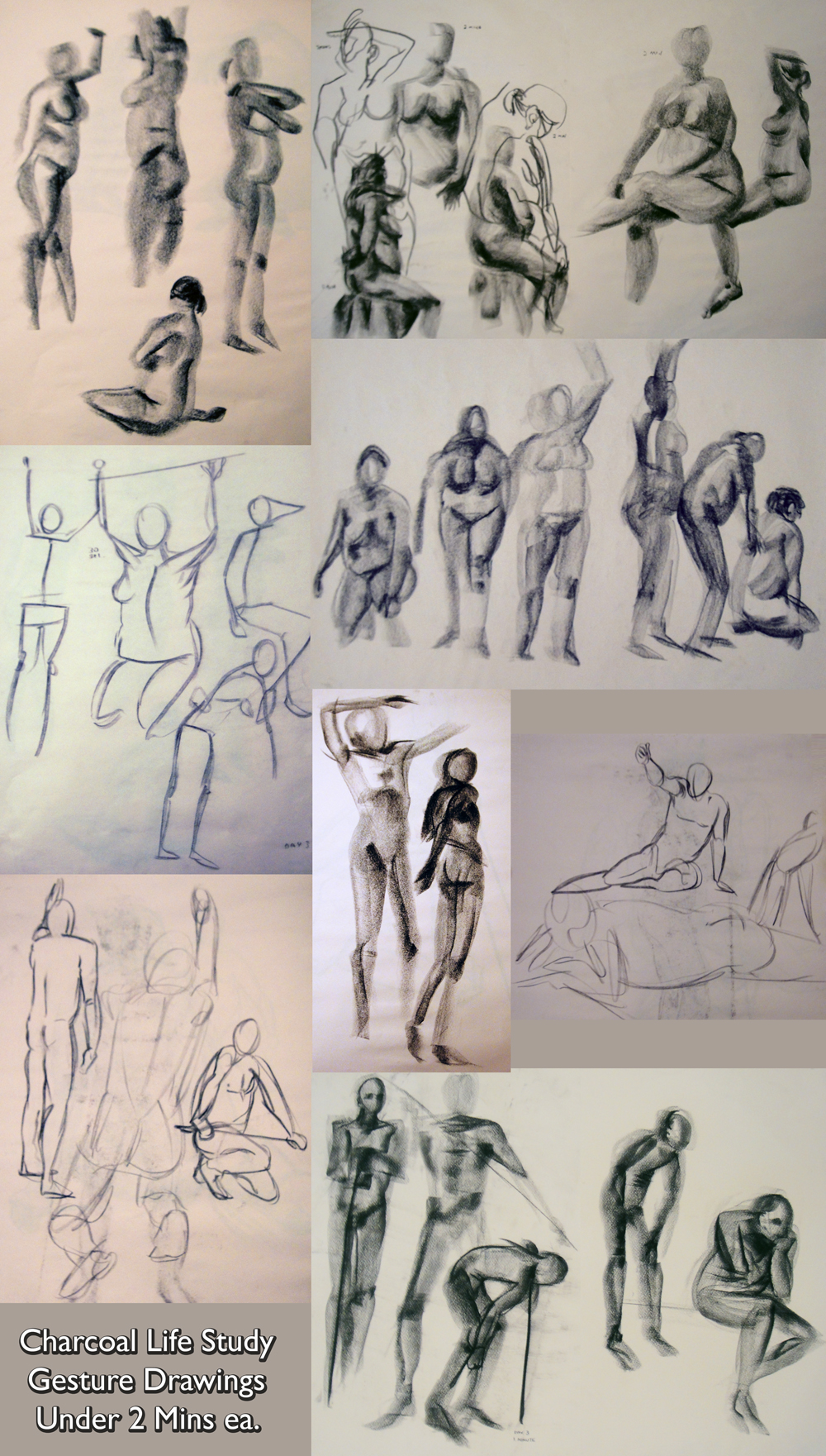 Life Study Gesture Drawing