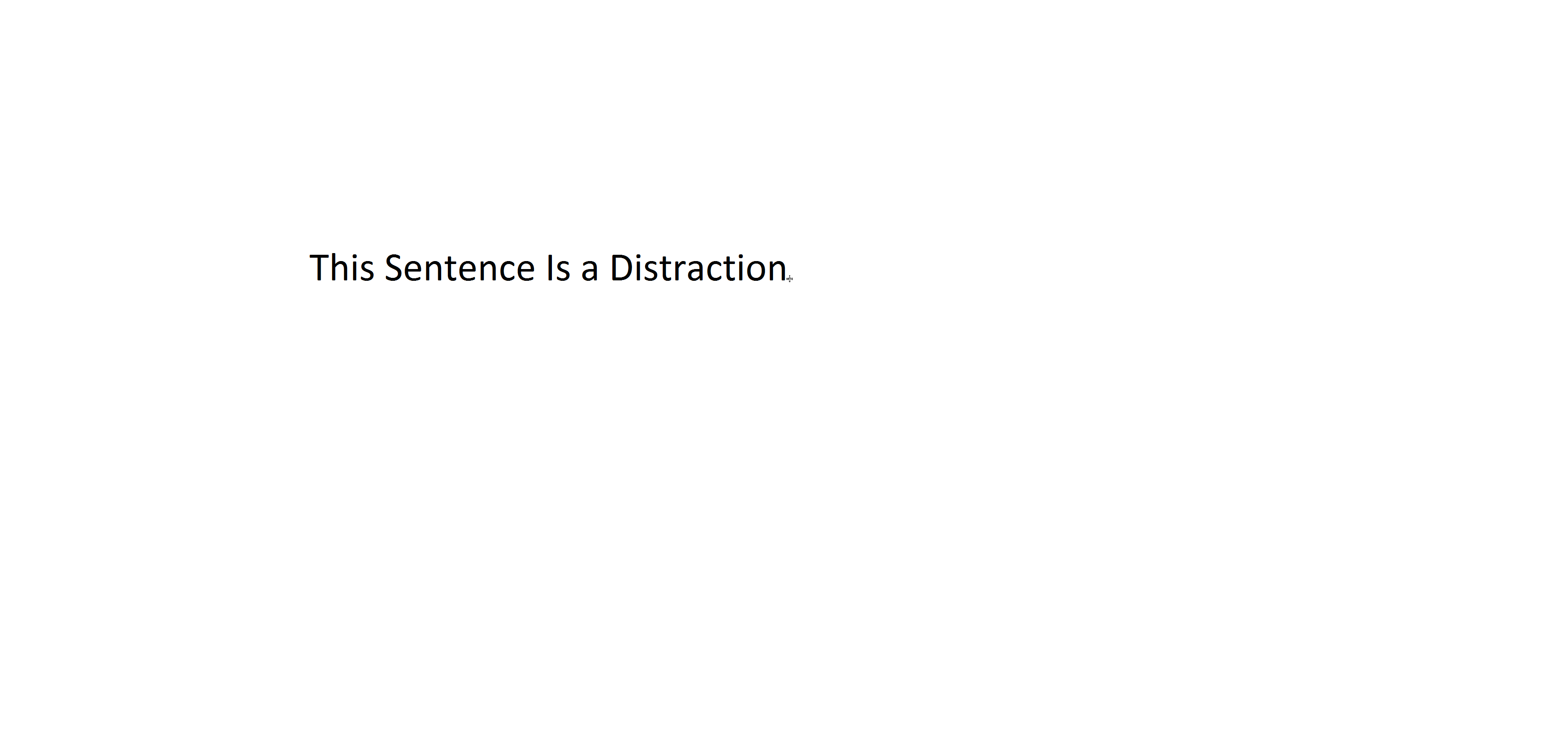 Distracting Sentence