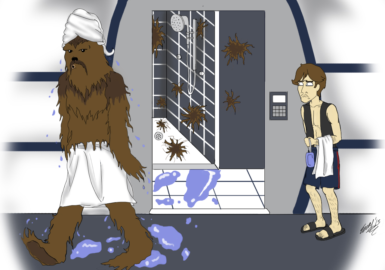 A Wookie Took a Bathed Here!
