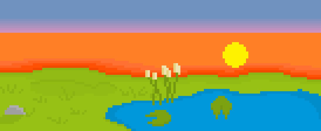 Pixel Pond Landscape