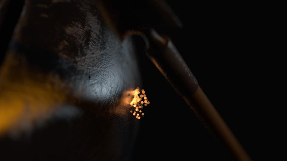 Arrow with sparks