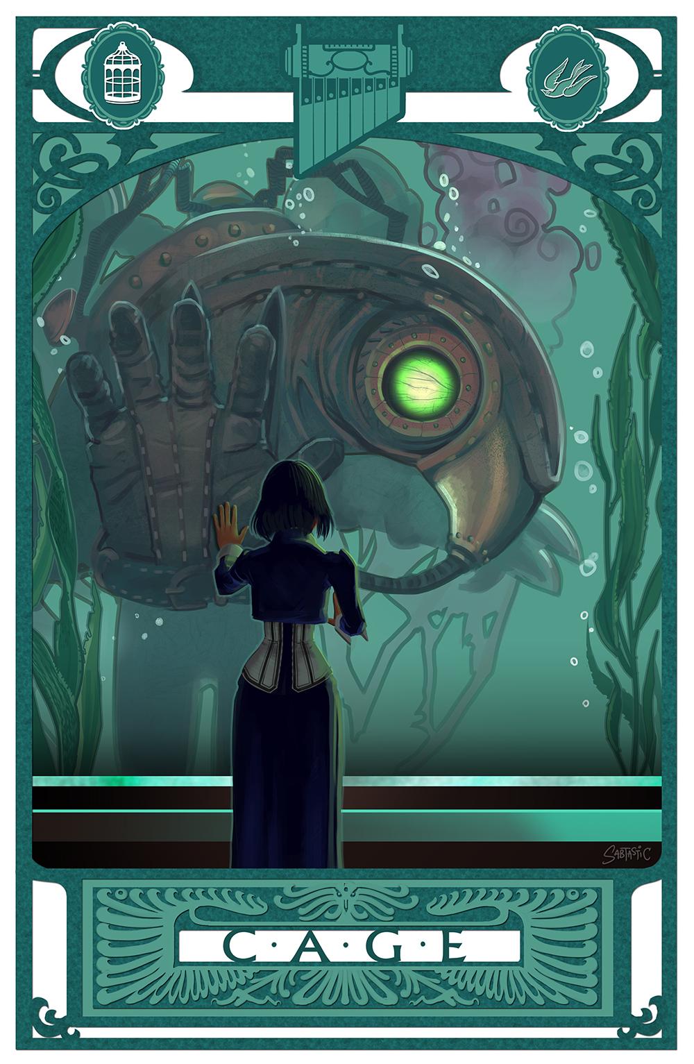 Bioshock Infinite: C-A-G-E