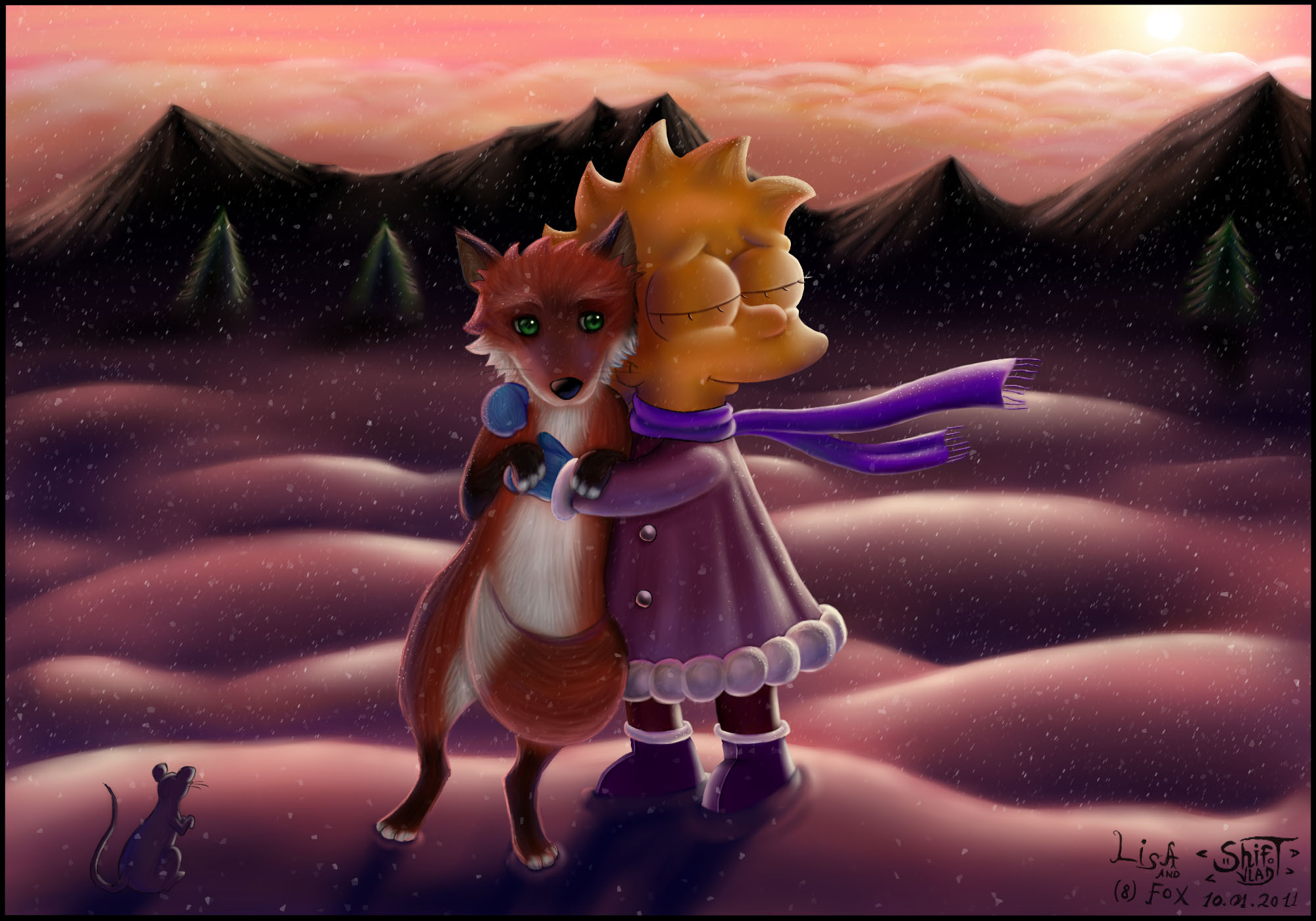 Lisa and Fox (fanart)