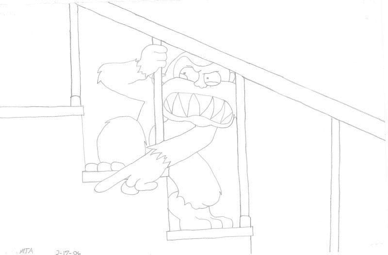 Evil Monkey Pencil Art