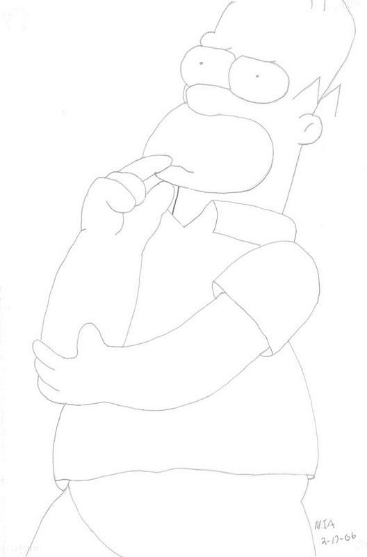 Homer Pencil Art