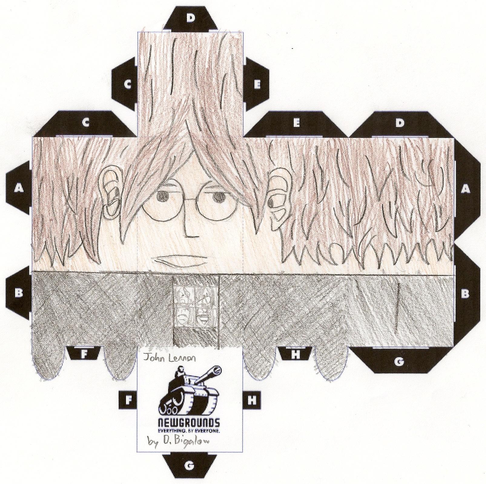 John Lennon Papercut